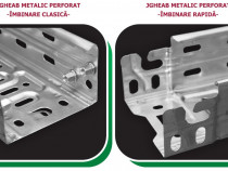 Jgheab metalic perforat otel pregalvanizat ranforsat 60 mm