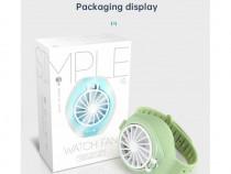 Mini Watch Fan 3-Gear Wind Speed USB Charging Cooling Fan