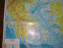 Harta fizica grecia