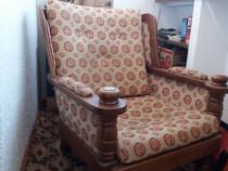 Garnitura de hol tilburii -canapea+2 fotolii, lemn masiv