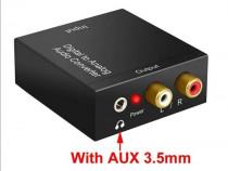 Convertor audio digital optic in analog Adaptor Decodor TV +