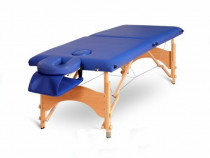Masa masaj pliabila si portabila 2 sectiuni lemn