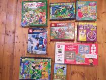 9 jocuri/puzzle-uri diferite ptr copii, carte cu colaje