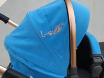 Carucior MACACA High Ride Lux Albastru !