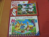 2 Puzzele pt. copii cu 100 si 160 piese-ieftine