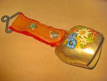 B621-Talanga mare rustica Welschnofen Floare de Colt antic..