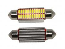2 X Becuri LED C5W alb, nr inmatriculare/ plafoniera, CANBUS