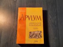 Apulum volumul 31 arheologie istorie etnografie