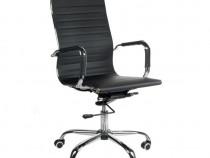 Scaun de birou ergonomic BX-2035, piele ecologica, negru