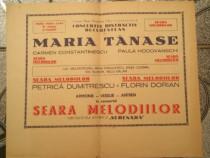 Afis concert Maria Tanase an 1959