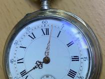Ceas de buzunar carcasa argint l. schroeder louxembourg 1870