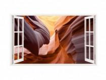 Sticker Decorativ, Fereastra 3D, Dune De Nisip, 85 Cm, 196S