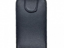 Husa telefon flip vertical apple iphone 4 black produs nou
