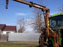 Macara telescopica pentru tractor