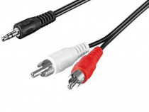 Cablu jack 3.5mm la 2 rca 1.5m produs nou