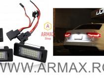 Set 2 lampi numar led dedicate AUDI,VW,SKODA,SEAT canbus