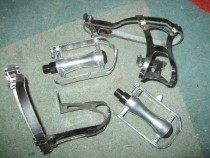 Pedale aluminiu pt. cursiere/fixie cu retrape