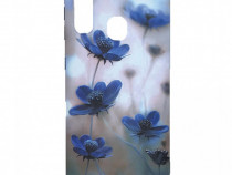 Husa Telefon Plastic Samsung Galaxy A10 a105 Blue Flowers
