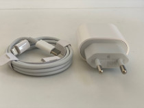 Iphone 11 PRO MAX Incarcator Fast Charger 18W + Cablu Type c