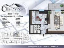 Garsoniera decomandata,42 mp,bloc nou,Crown Residence Rahova