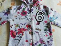 Geaca gri cu flori Zara 128