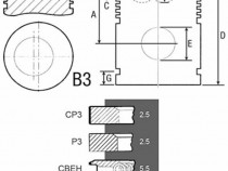 Piston si segmenti tractor Fiat 23/32-251