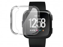 Carcasa silicon Fitbit Versa, bumper husa protectie ecran ce