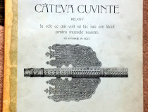 Cateva cuvinte, Dr. C. I. Istrati, 1908