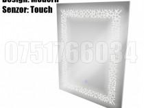 Oglinda Baie Moderna Iluminta 80 x 60cm Led Touch Frozen