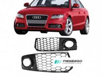Set Grile proiector stanga+dreapta Audi A4 B8 2007|2008-2010