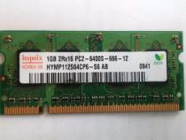 RAM 1GB PC6400 (800 Mhz) HYNIX ptr. LAPTOP