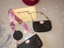 Geanta Louis Vuitton 3 piese, piele naturala!!