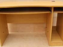 Birou solid cu 2 glisiere; Masa de lucru cu Blat 121 x 61 cm