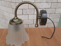 Aplica baie, oglinda baie, 1 bec, sticla, bronz antichizat