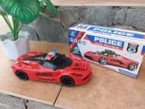 Masina Politie pentru copii, masina police cu lumini si mel