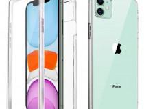 Iphone 11 12 MINI / PRO / MAX - Husa 360 Fata Spate Plastic