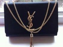 GEANTA firma Ysl accesorii metalice aurii new model