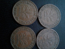 Monede de 1 Phennig Germania 1950