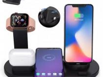Iphone - Dock Incarcare 3 in 1 Wireless Pentru Telefon Ceas