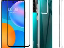 Huawei P SMART 2021 / Z - Husa Silicon Anti Soc + Folie