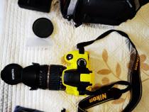 Nikon D3200,Tamron18-200,Filtru UV,Husa,Body Cover,Card 32GB