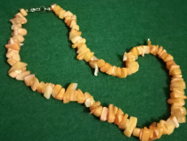 Colier imitatie coral portocaliu acrilic