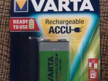 Acumulator baterie reincarcabila 9v Varta Ni-Mh 200mAh hr9v