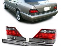 Stop stopuri triple Mercedes W140 rosu/fumuriu NOU