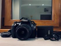Canon 1100D cu obiectiv EFS 18-55mm 1:3.5-5.6 III 58mm