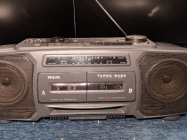 Super Radiocasetofon dublu casete Philips putere