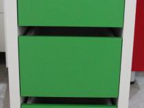 Mic dulap cu 4 sertare colorat; Dulapior depozitare; Noptier