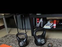 Kettlebell-uri de 8/12kg si gantere de 11kg+ab wheel