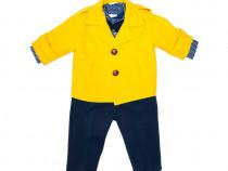 Costum botez baieti B65 | Costum elegant galben 4 piese