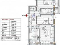Dezvoltator apartament 3 camere 2 bai 83mp+ zona Turnisor